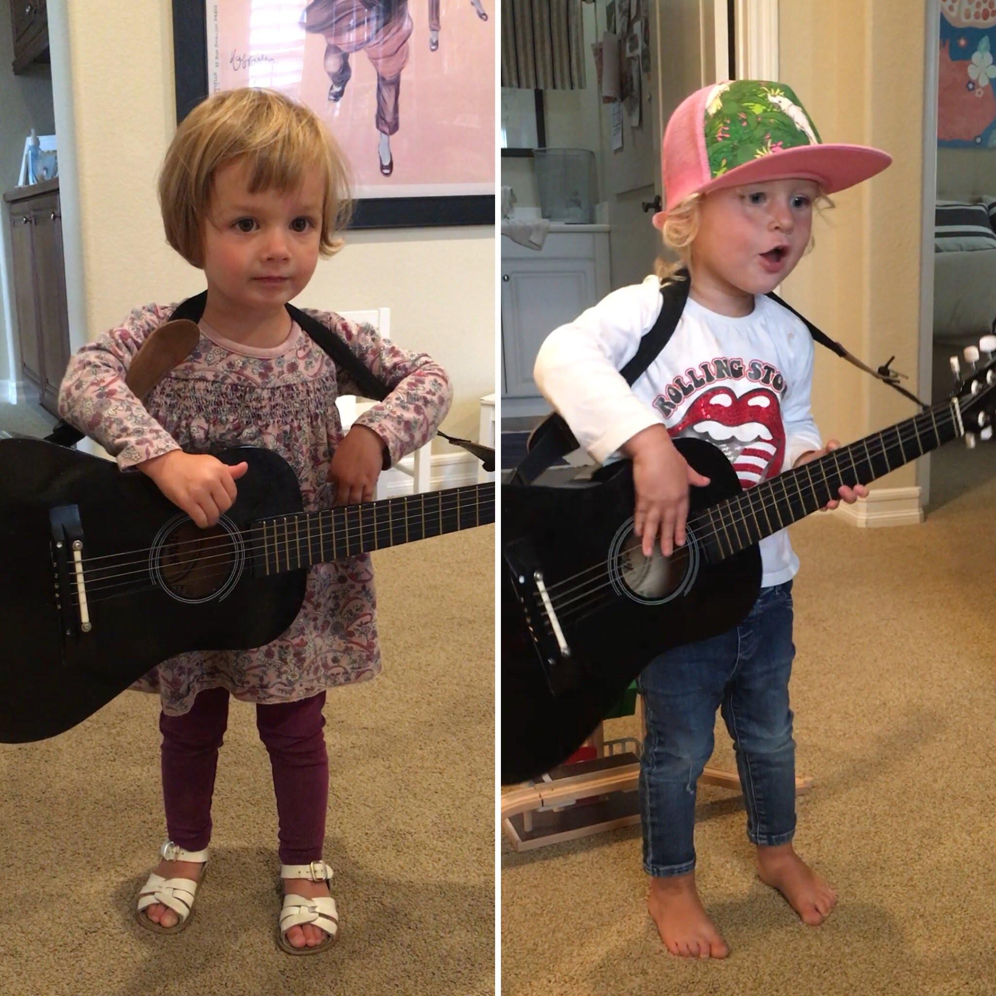 Dueling guitars: our folk singer and rocker
