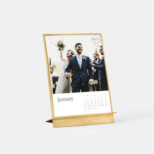 Brass Desk Calendar