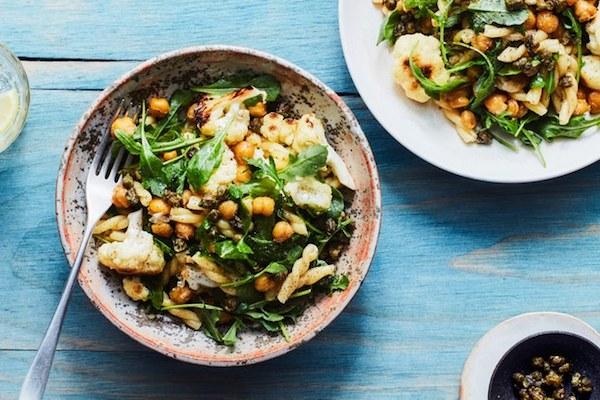 five_easy_weeknight_dinners_lemony_pasta_cauliflower_chickpeas_arugula.jpg