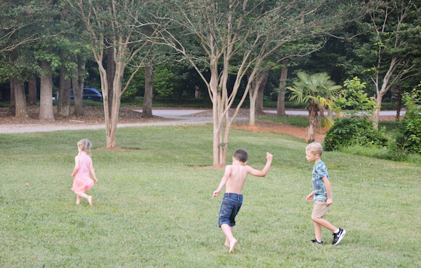 Kids being kids at our South Carolina Airbnb.