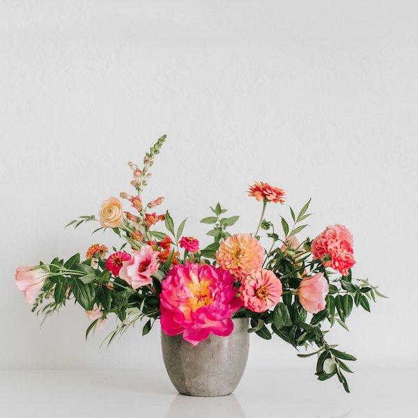 A gorgeous arrangement from San Diego florist, Native Poppy.
