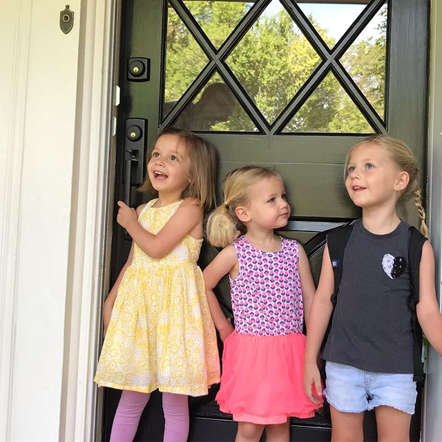 These girls woke up so excited for their first day of school. 😍