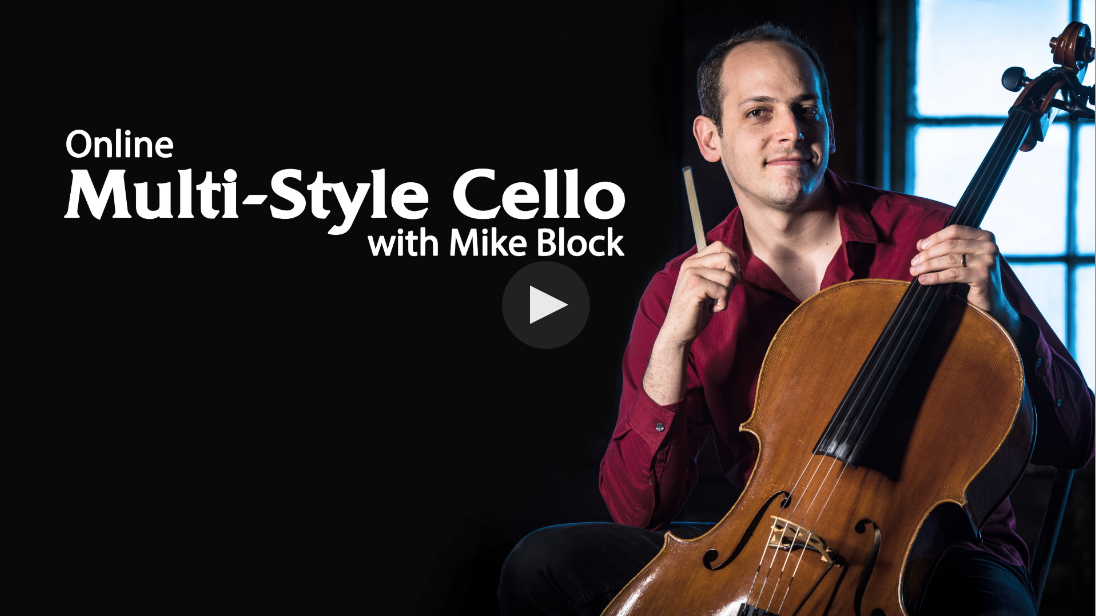 Online Multi-Style Cello School - Mike Block has taken his entire knowledge of playing cello and poured it into a comprehensive video library that includes hundreds of lessons in a wide variety of styles. Subscribers get unlimited access to all online cello lessons, supplemented by backing tracks and other study materials. Plus there's special guests, exclusive interviews, and a community of cello enthusiasts from all over the world.What ultimately sets these cello lessons apart from other online offerings however, is the ability to submit a video using the ArtistWorks Video Exchange® learning platform. Mike reviews each submission and records a video response where he offers tips and techniques to practice. All students can access Mike's Video Exchange library, which is always expanding and may contain the key to unlock your own playing.