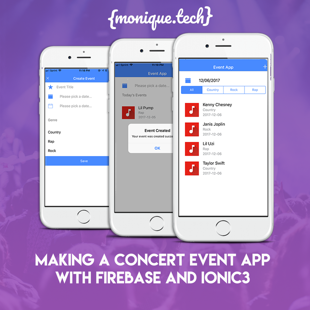 Making A Concert Event App With Firebase and Ionic3
