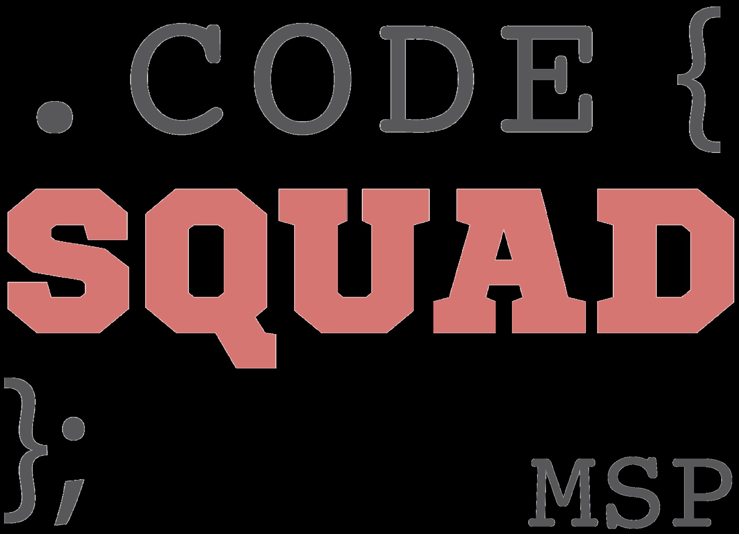 The winning Code Squad Logo designed by Harrison.