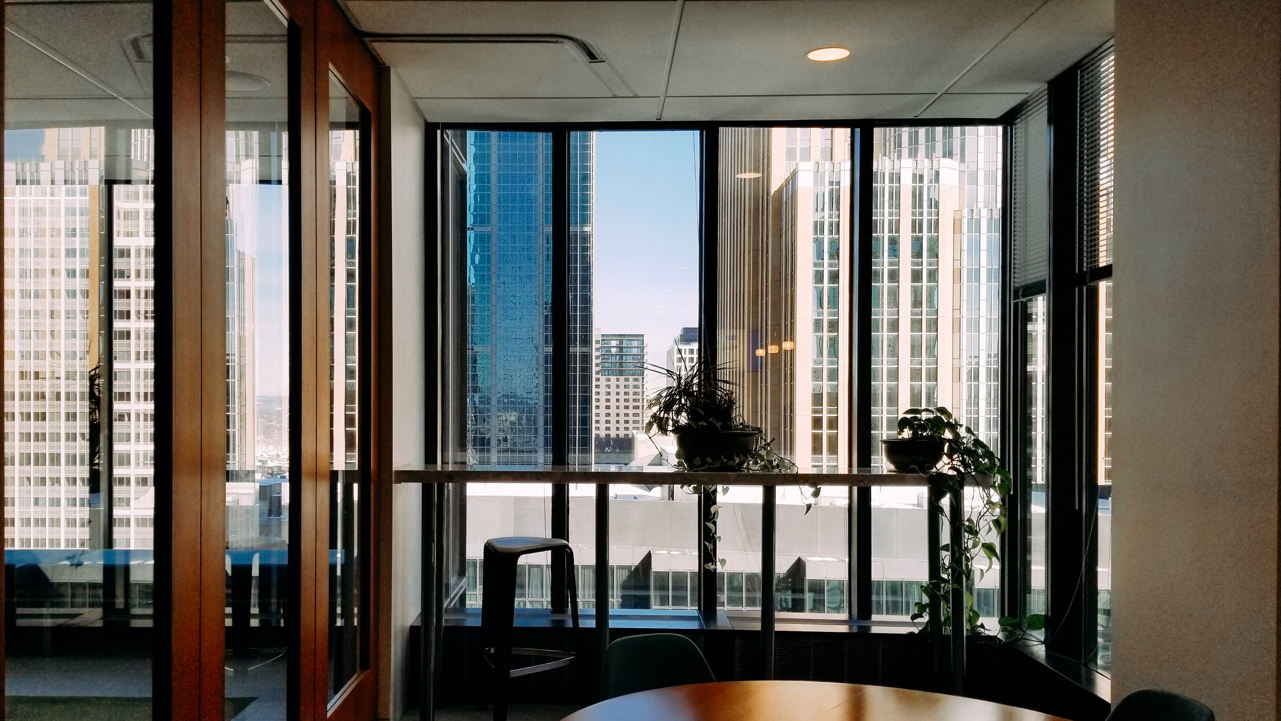 View from the Cushman and Wakefield office in Downtown Minneapolis.