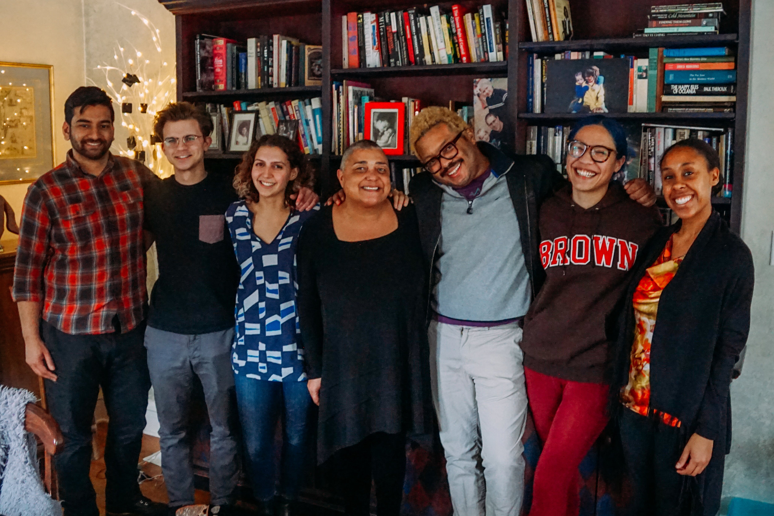 From left to right: Aswar, Sam, Carina (me), Marnita, Elijah, Elexis, and Lauren at the Marnita's Table office.