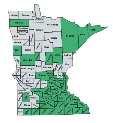 Since 2011 our students have come from 46 Minnesota counties and 12 states.
