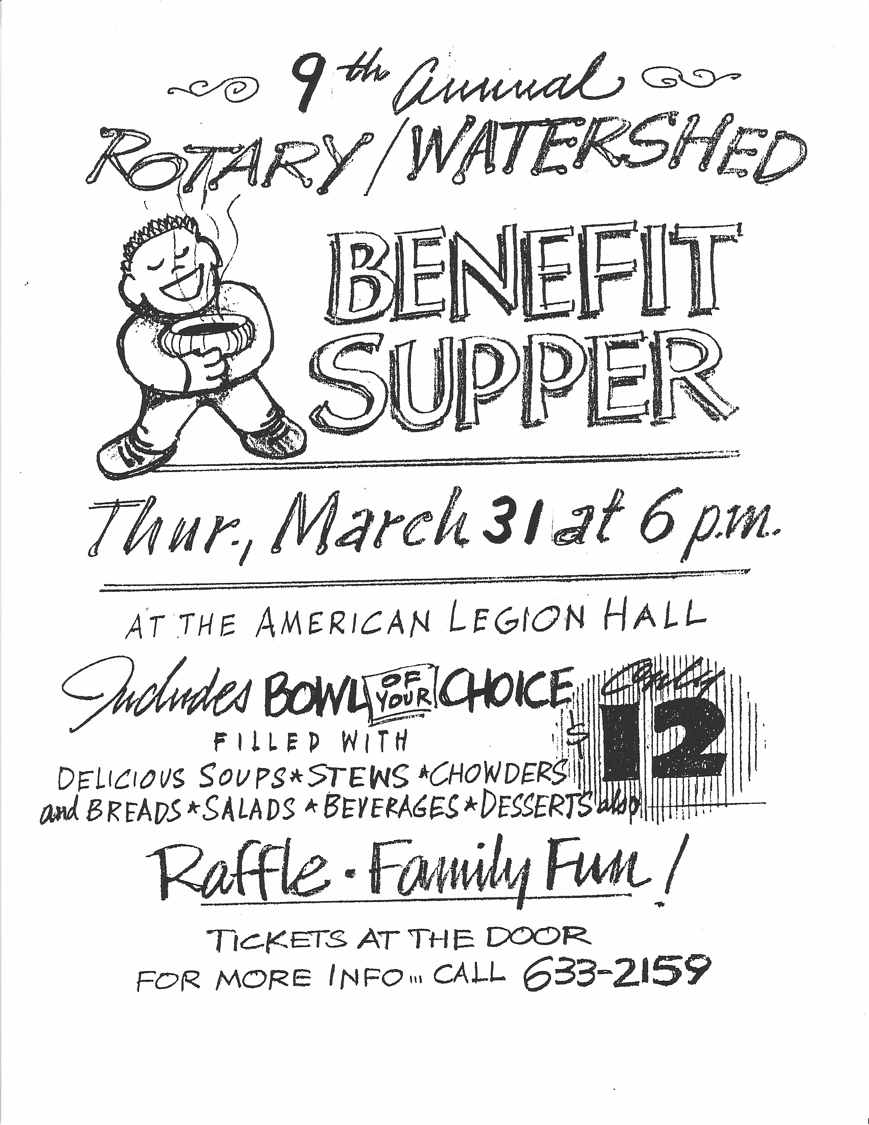 The 2005 Soup Bowl Supper poster, inviting people to the 9th annual supper.