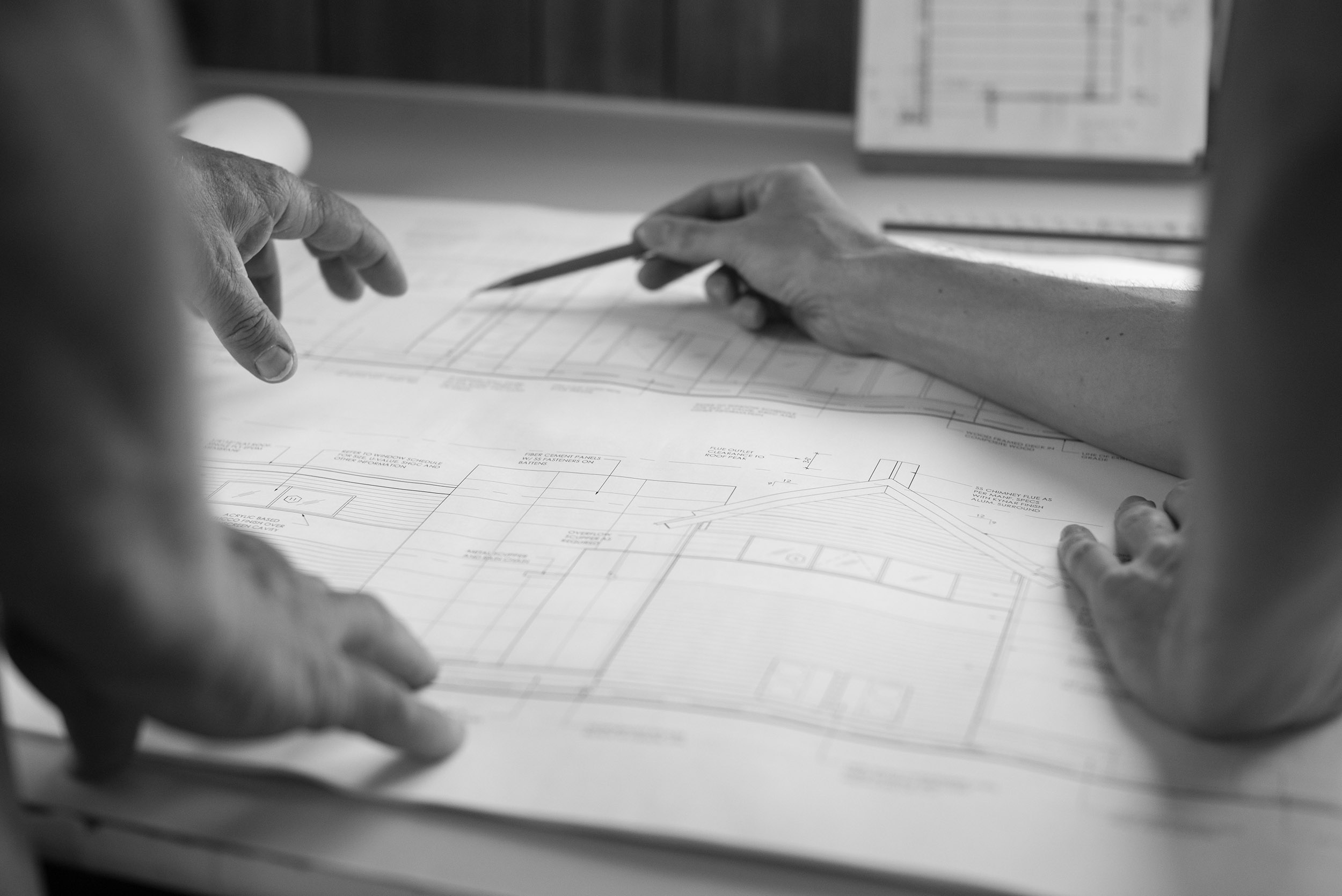 Collaborative Process - We are passionate about the work that we do and recognize that realizing an architectural vision is a collaborative process between owner, architect, and builder. Construction administration is always part of our project delivery process, which ensures we are involved until a project's completion to help make the collaborative vision a reality.