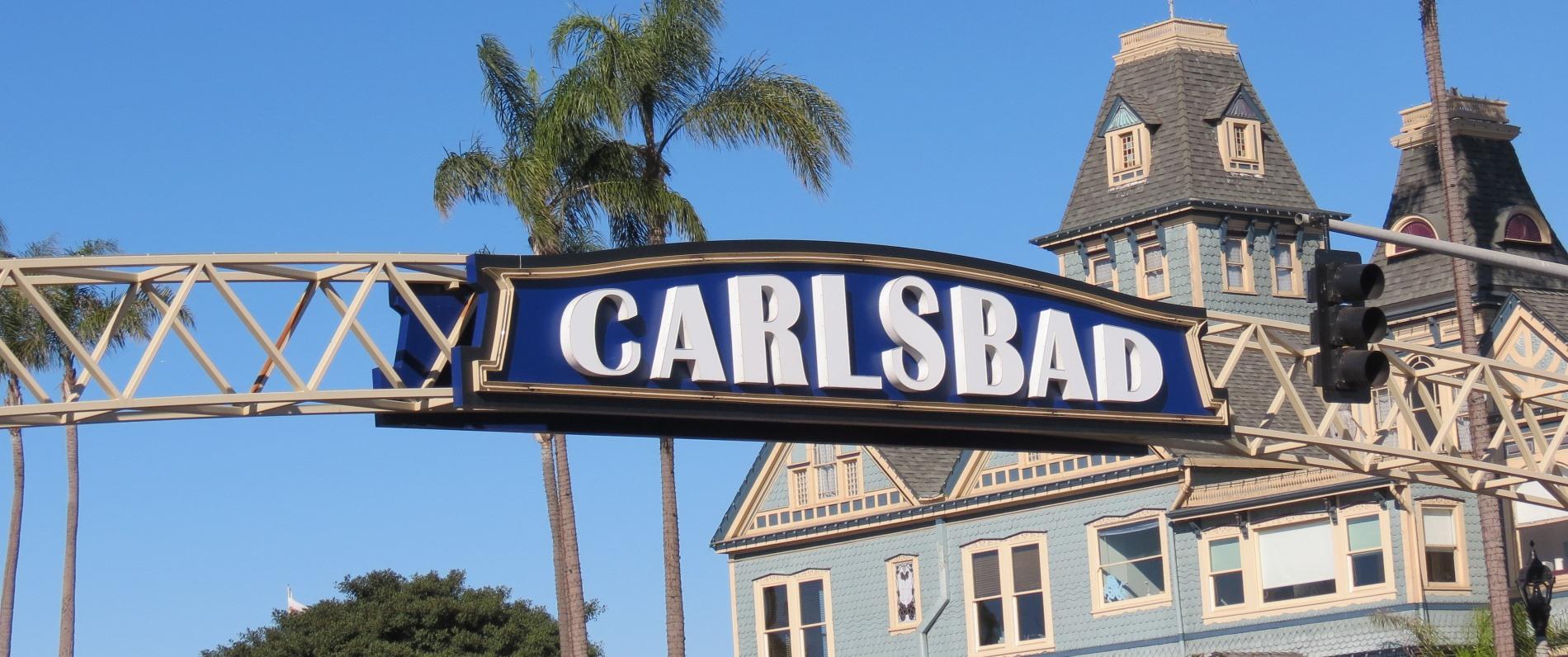Carlsbad Sign, Historical Walking Tour, Carlsbad, CA