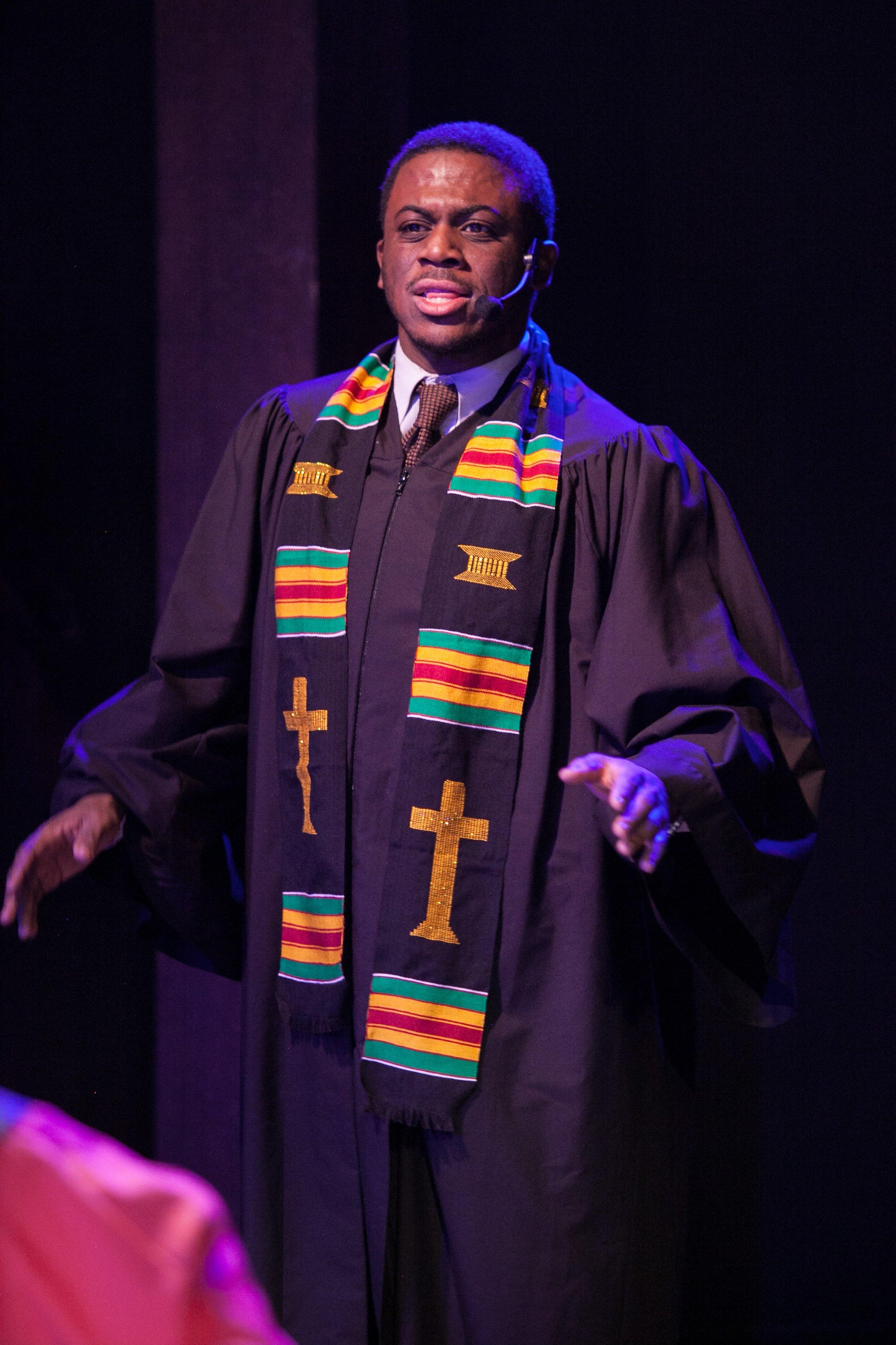 as Preacher in Black Nativity