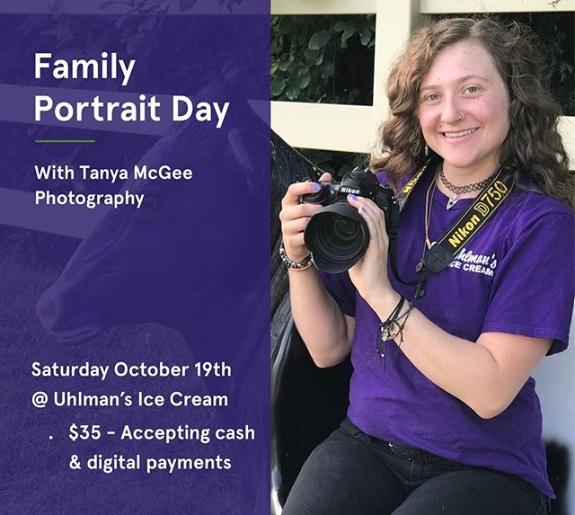 I'll be hosting a family portrait event at @uhlmansicecream next Saturday!  Bring your friends, bring your family, bring your dog, and eat some ice cream before the season is out! 🍦💕 #portraitphotography #nikon #uhlmans #photography #icecream #family