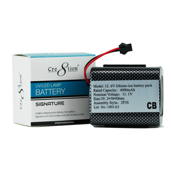 13219 - Cre8tion Signature Cordless Replacement Battery  50 pcs/case
