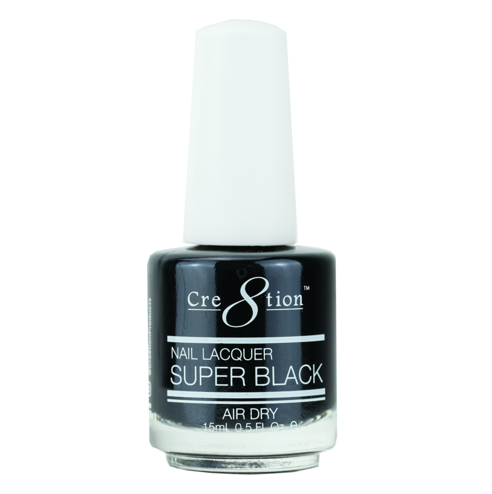 Cre8tion Nail Lacquer - Super Black (Item 14003)