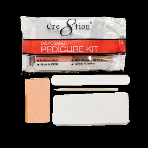 19422 - Pedicure Kit D  Includes 1 Buffing Pad, 1 Slim Buffer, 1 Mini White Nail File, 1 Wood Pusher   (200 kits/case)