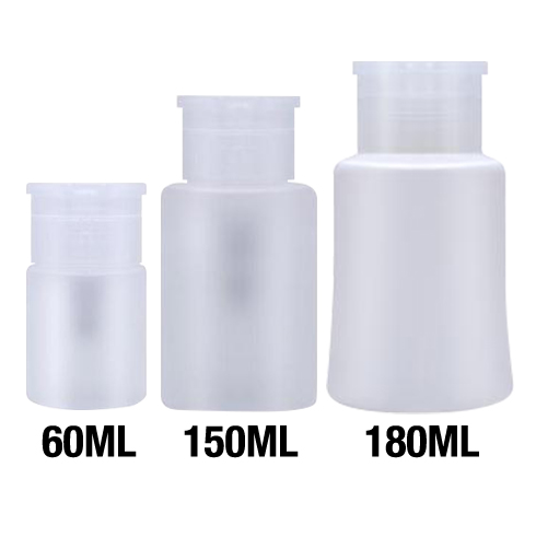 26188 - Empty Liquid Dispenser Bottle 60 ml,  300 pcs/case  26189  -  Empty Liquid Dispenser Bottle 150 ml,  200 pcs/case  26190 - Empty Liquid Dispenser Bottle 180 ml,  200 pcs/case