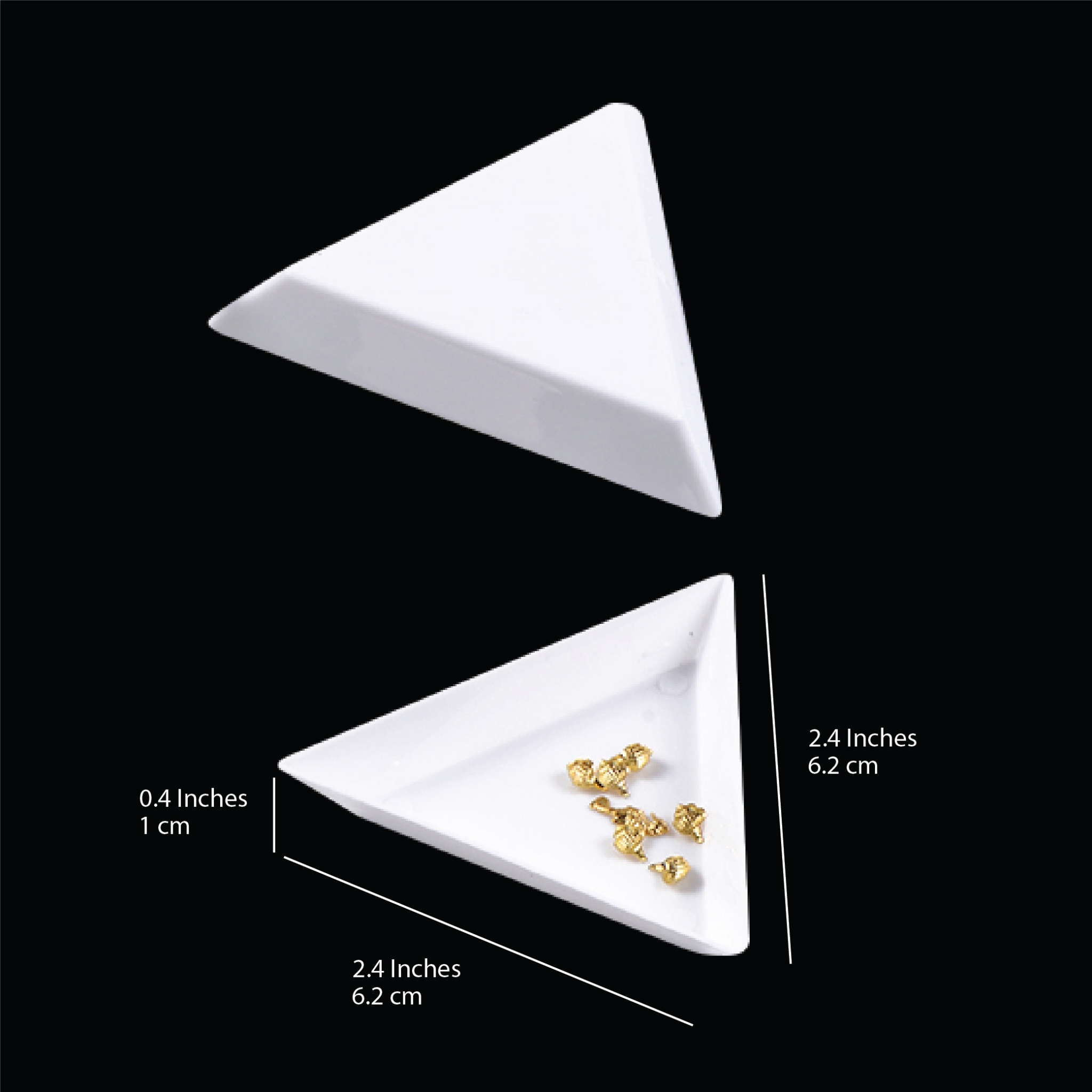 10352 - Triangle Tray#for rhinestones# 5 pcs/bag