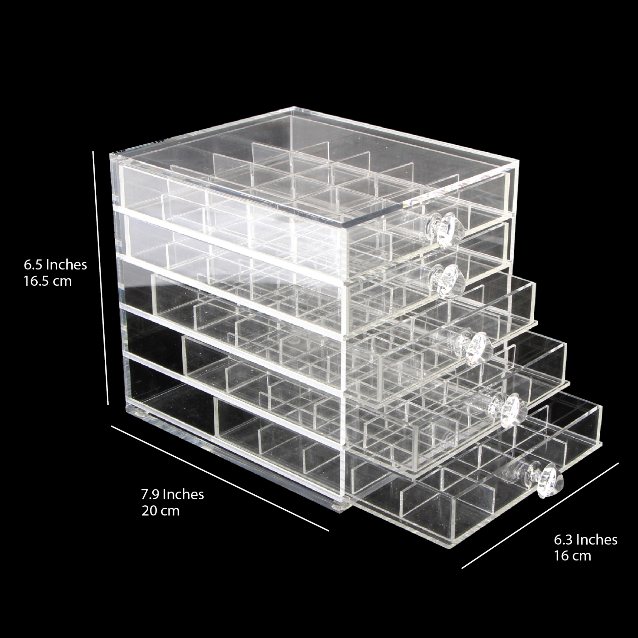 26164 - Acrylic#Accessories Box#150 Grids# 8 pcs/case