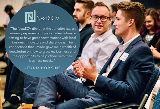 @toddhopkinsrealestate shares what he loved about our last NextSCV dinner at the @oldtownjunction  This season's dinner is just a few days away! We'll see you there.  #youngprofessionals #santaclarita #nextscv
