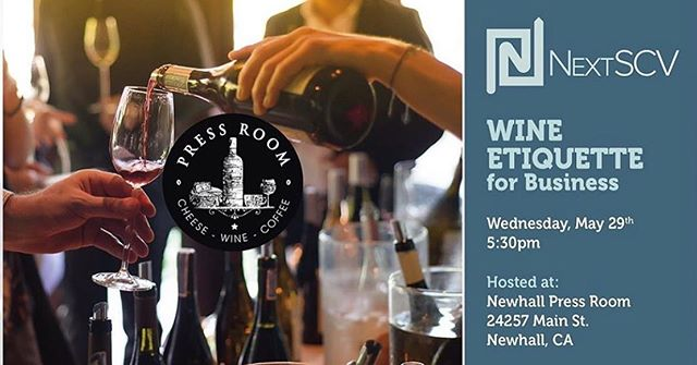 Are you a young professional in SCV? Do you like wine? 🍷Come join us for tomorrow's wine tasting event at the @newhallpressroom! Link in bio for tickets #scvchamber #nextscv