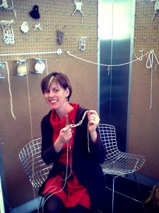 Knitting Lounge at the Airport