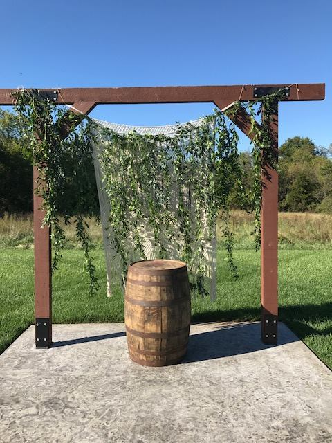 Rustic Whiskey Barrels, $30