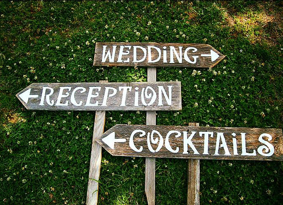 Stained Pallet Signs, $15 each