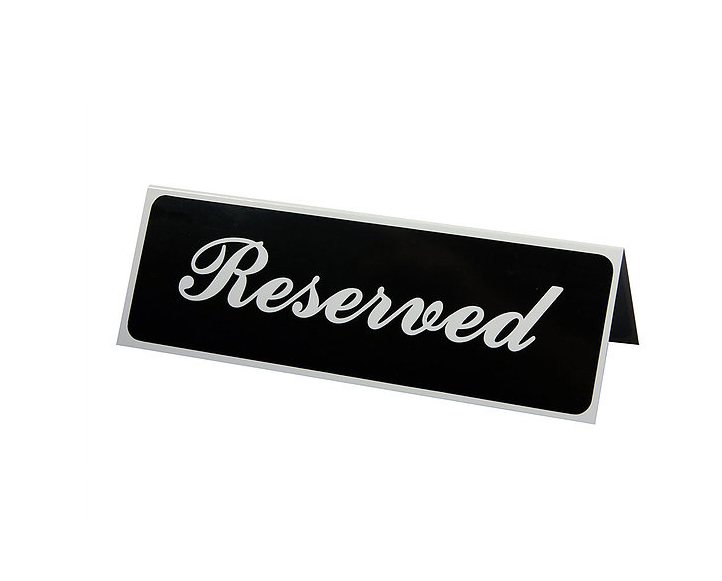 Reserved Signs, $1