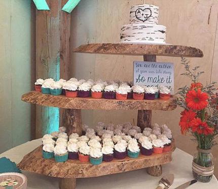 Large Wood Cake/Cupcake Stand, $30