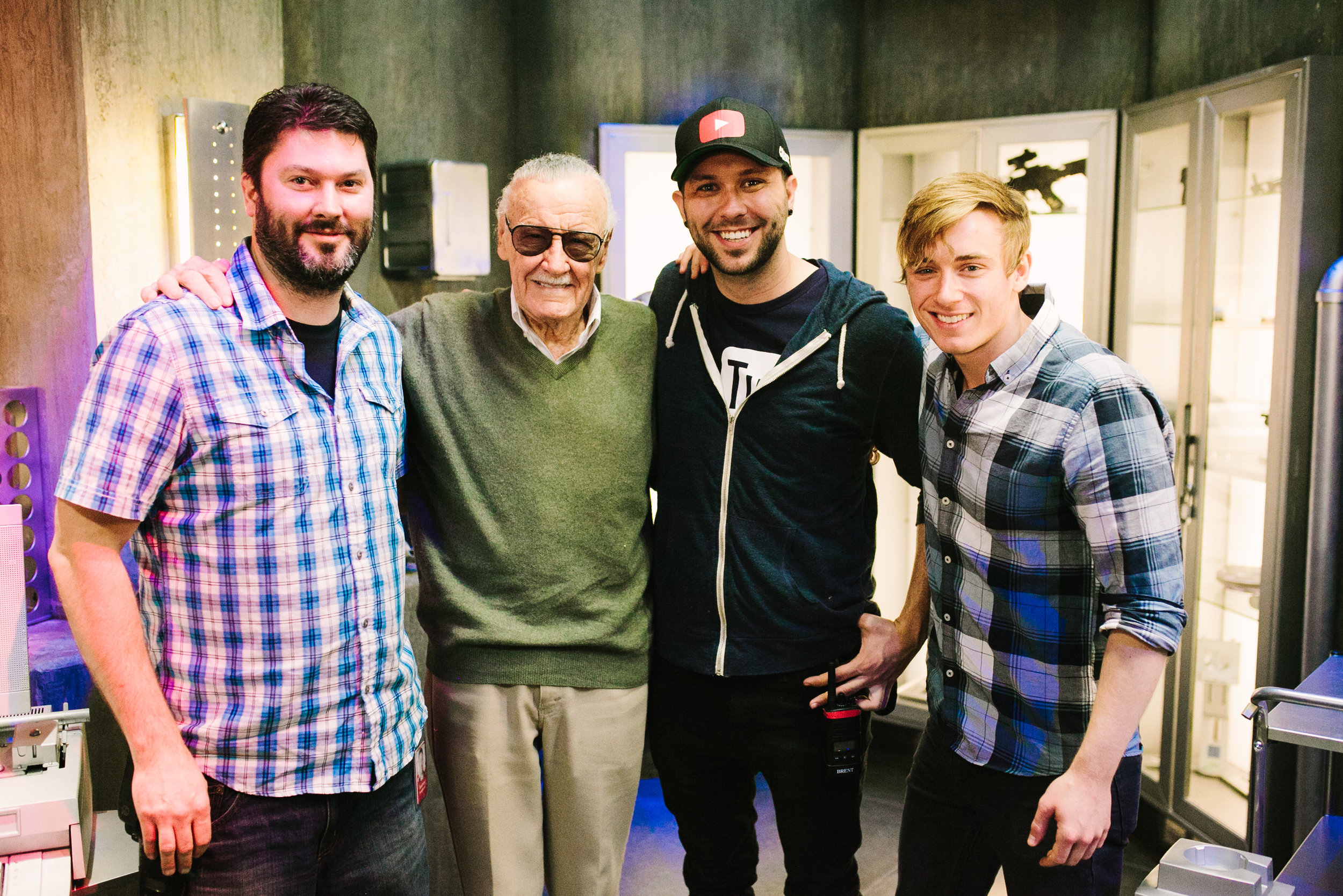 This is a photo of me and Stan Lee. It's not incredibly pertinent, but it happened, and this is my website. -