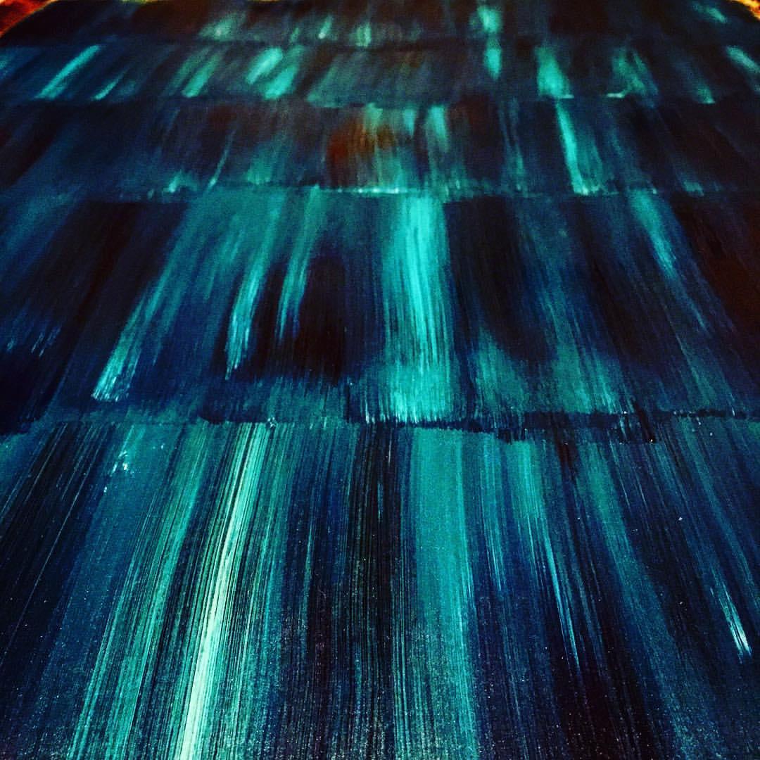Waves: Acrylic Paint on Wood