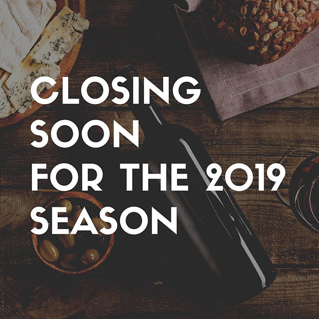 ✨ We will be closing on Sunday, September 1st for the 2019 season! If you haven't had a chance to visit us yet this summer, make sure to stop in this week ✨