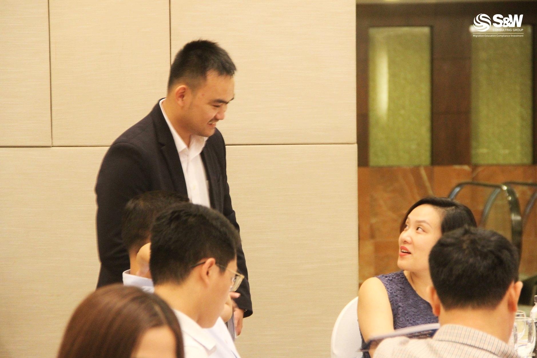 Mr. Thọ Nguyễn, chuyên viên di trú có bằng Registered Migration Agent tại S&W Consulting Group