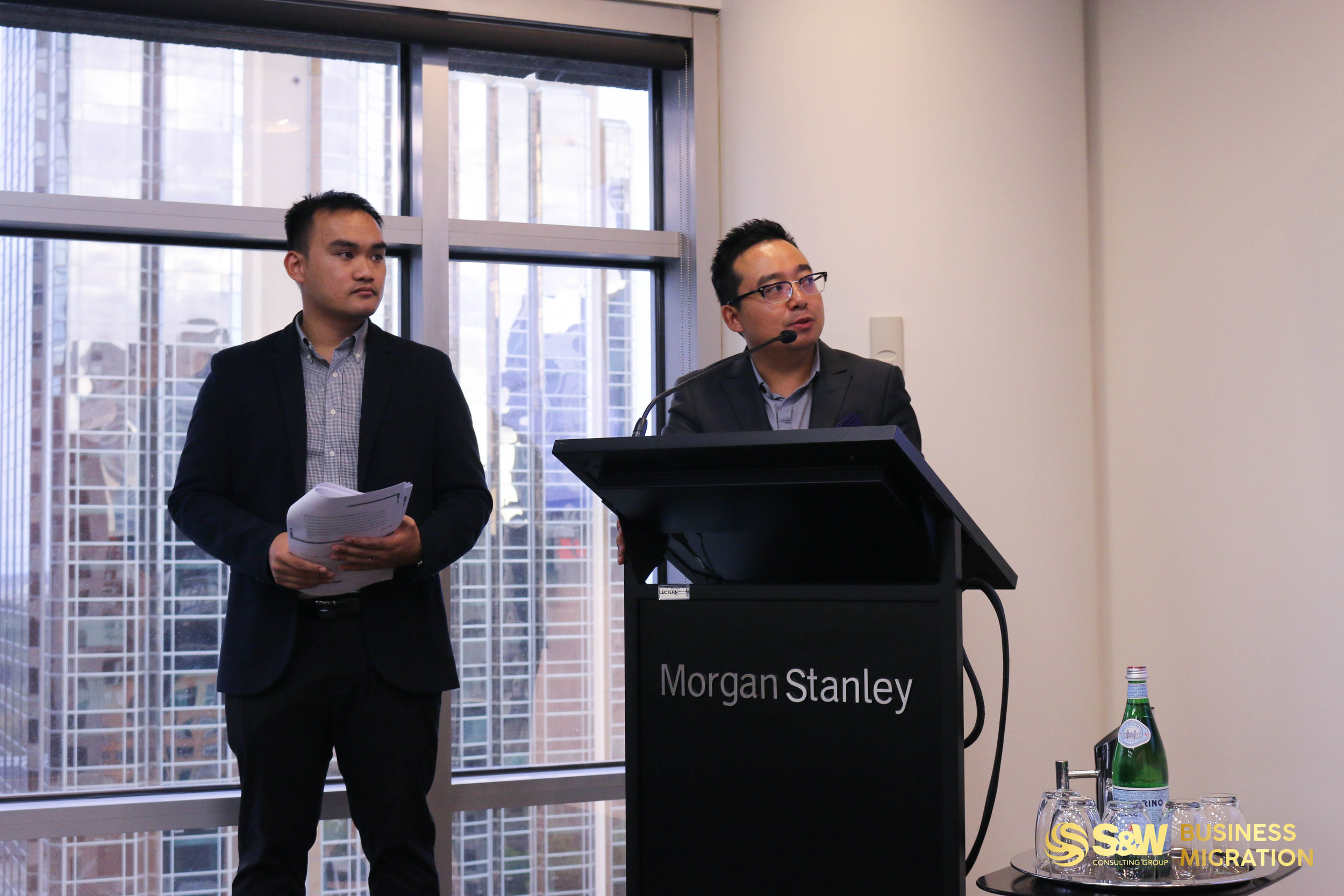 Sean DONG (right) - Director of S&W Consulting Group