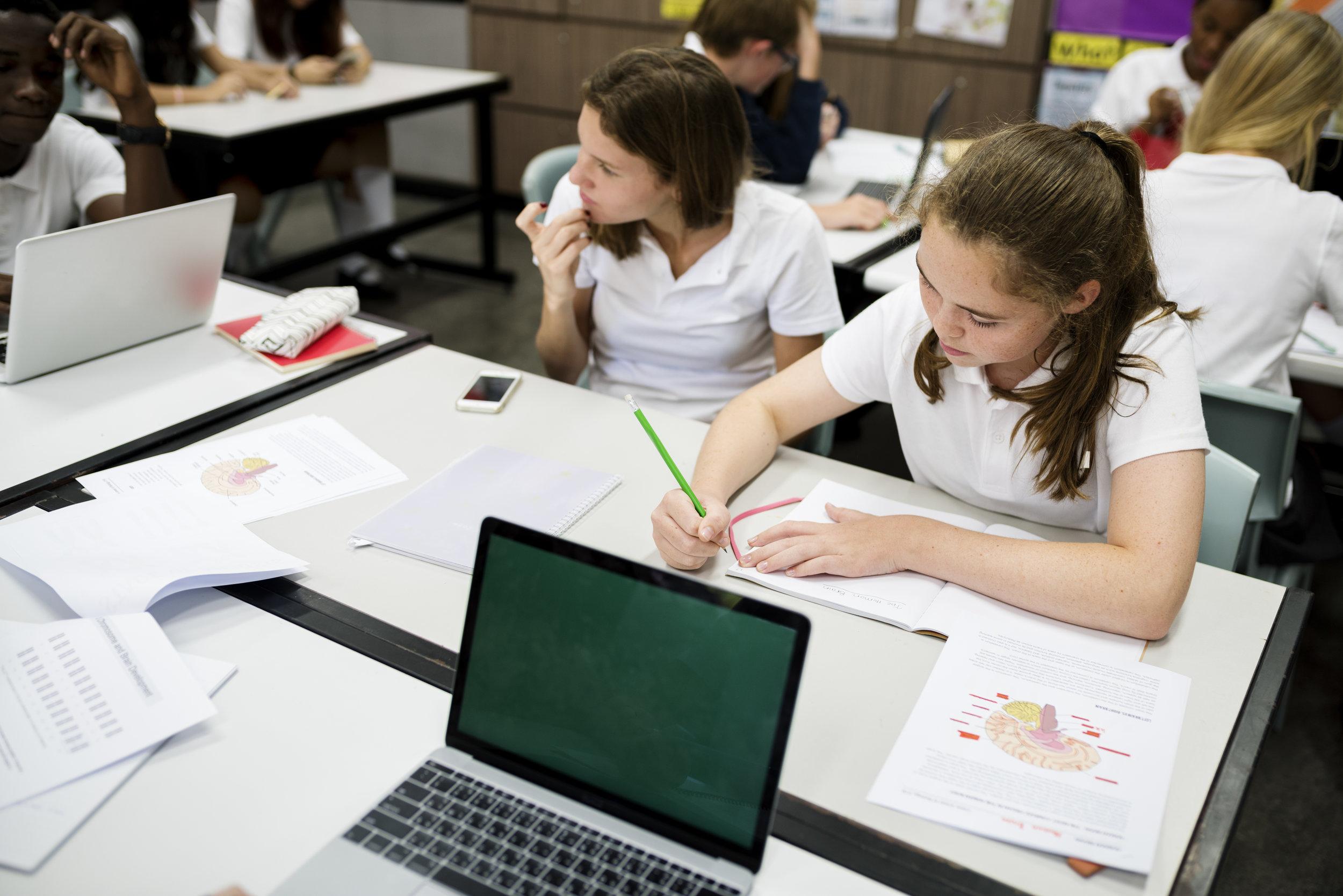group-of-school-friends-learning-classroom-PF2W7VS.jpg
