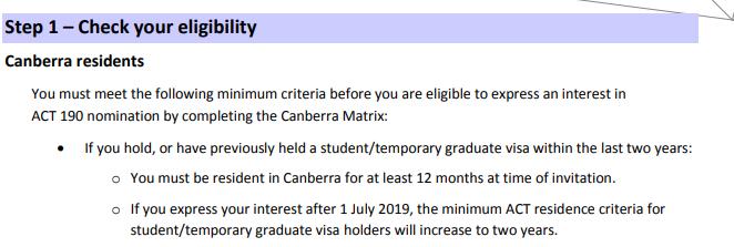 Figure 1 - 2018-2019 Nomination requirement