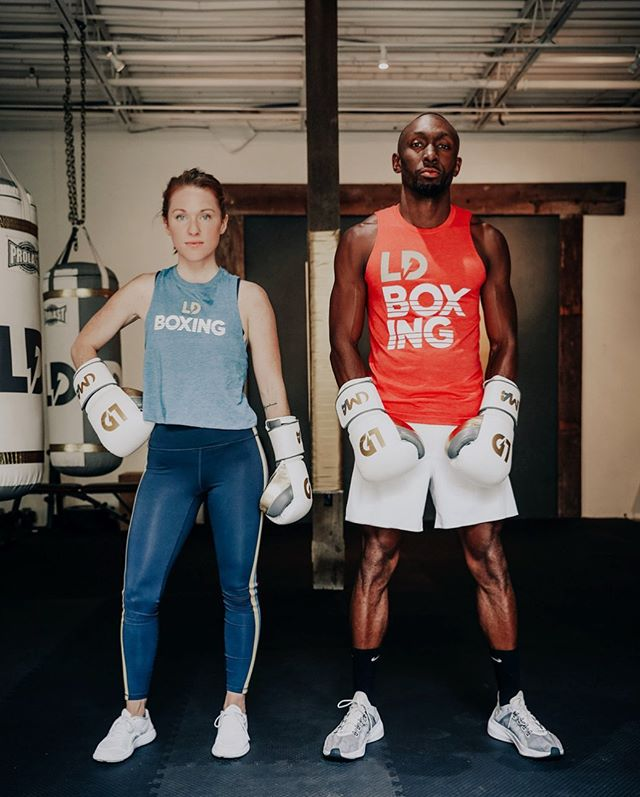 So blessed to have my great friend  @natalieabaldwin training alongside me at @ldboxing. From taking your first boxing class, to your first PT on the mitts. To making the decision to become a trainer and turning into the rockstar that you are today, with training and online coaching.  You've  always had a passion to succeed on and never put limits on yourself. You truly are a role model and I'm excited to continue to level up and  grow as trainers, entrepreneurs and as people. And this is still just the beginning.  Also check out some of the new @ldboxing  merch available now. S/O to my guy Scott @nashvibe_clothing for helping me out with them. ⚡️⚡️⚡️ 📸: @angelinaoliva