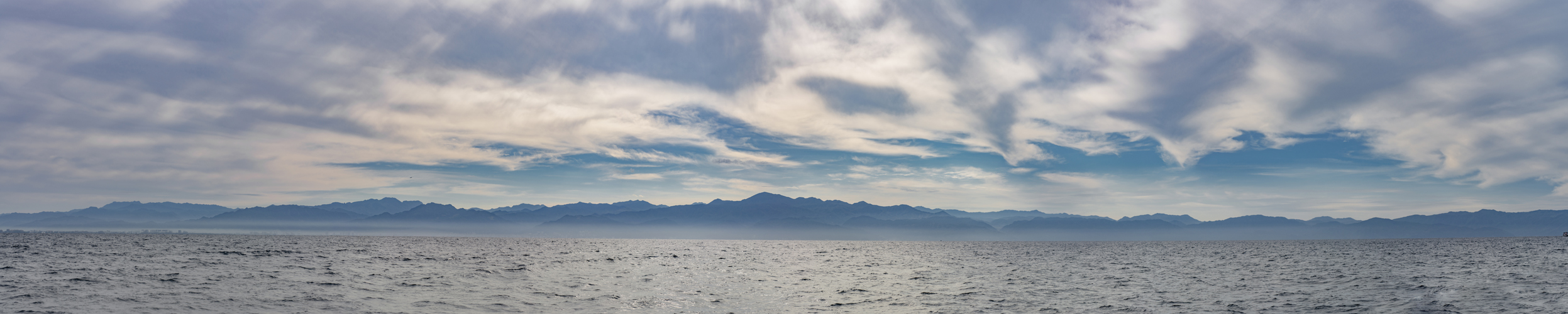 a panorama I stitched together of the low cloud cover on Banderas Bay