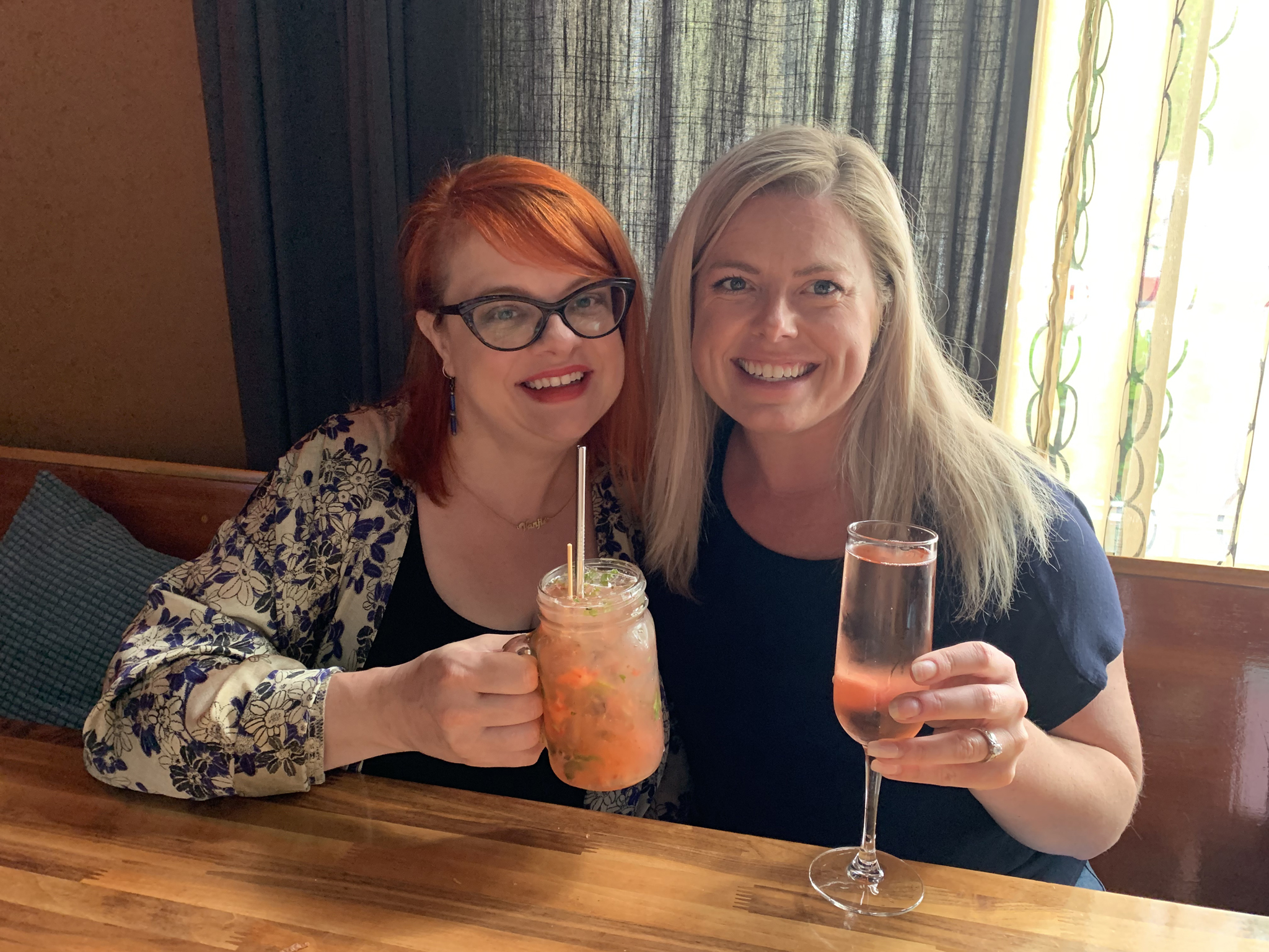 Cheers! How am I so lucky to know such loving women?! (And how gorgeous is Maddie?!)
