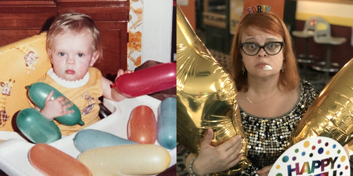 First Birthday and 40th Birthday - still with the frosting...haha.