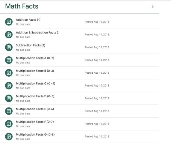 Google Classroom Math Facts list.png
