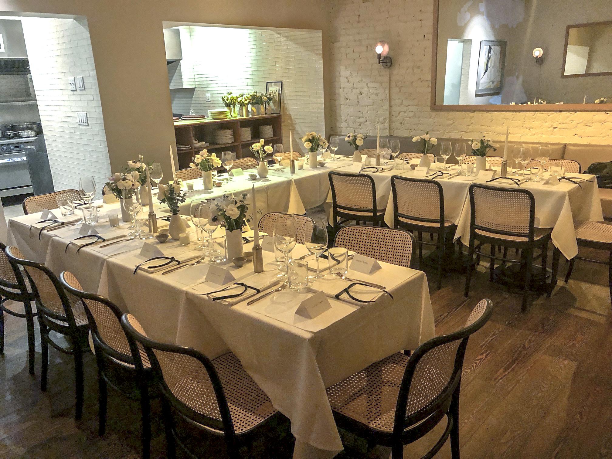 Lifetime Network Brand Dinner at King's Restaurant in New York.