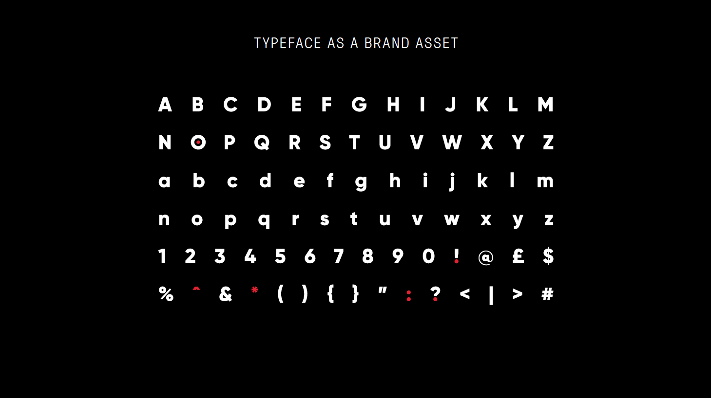 Typeface as Brand Set