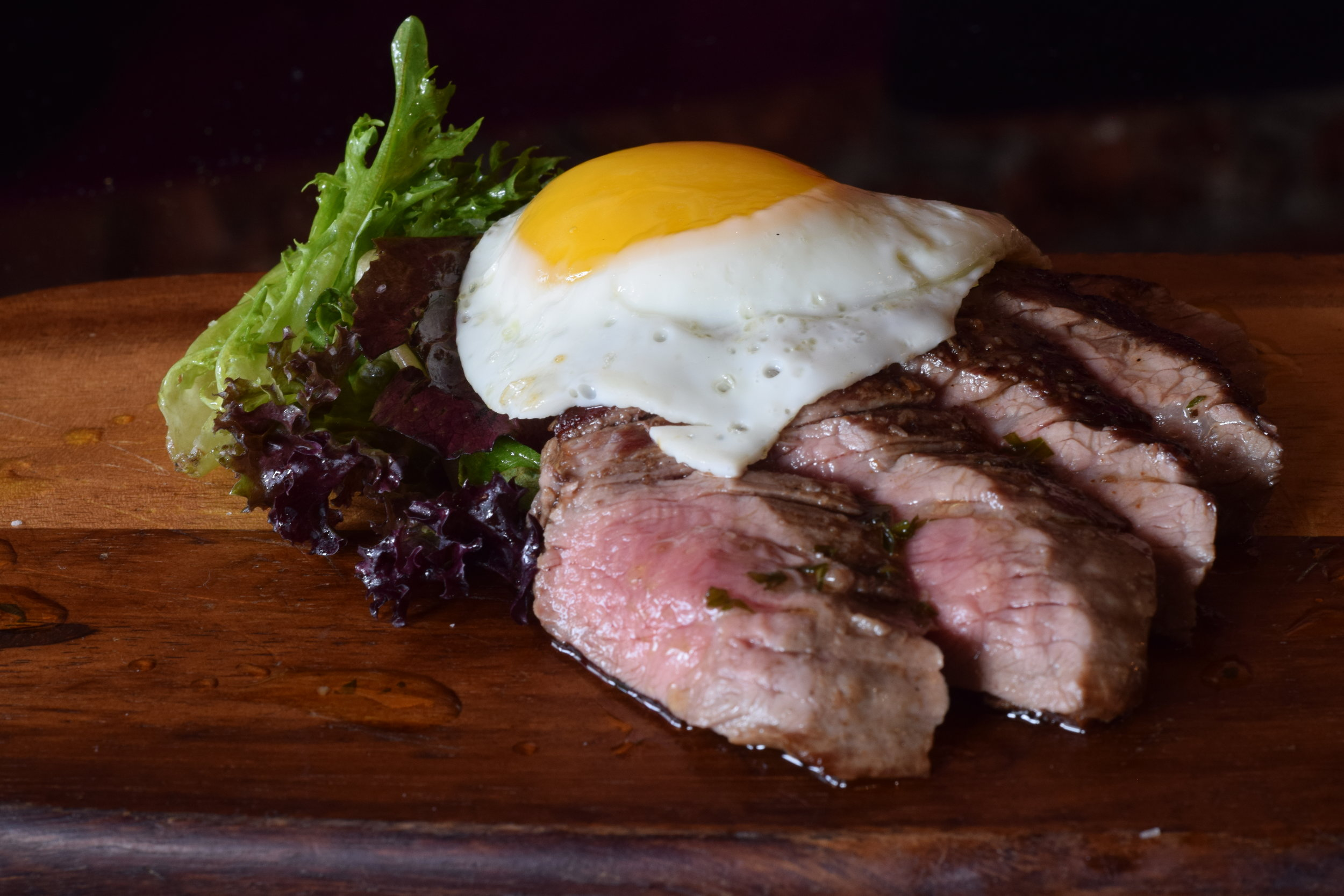 Steak and Eggs off of our Brunch Menu