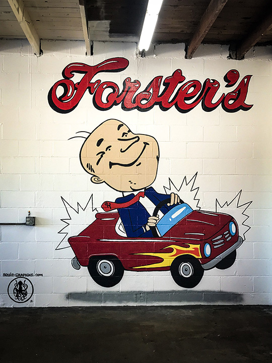 FORSTER`S AUTO WASH OF ORTONVILLE, MI. JULY 6 2018. 12FT X 10 FT.