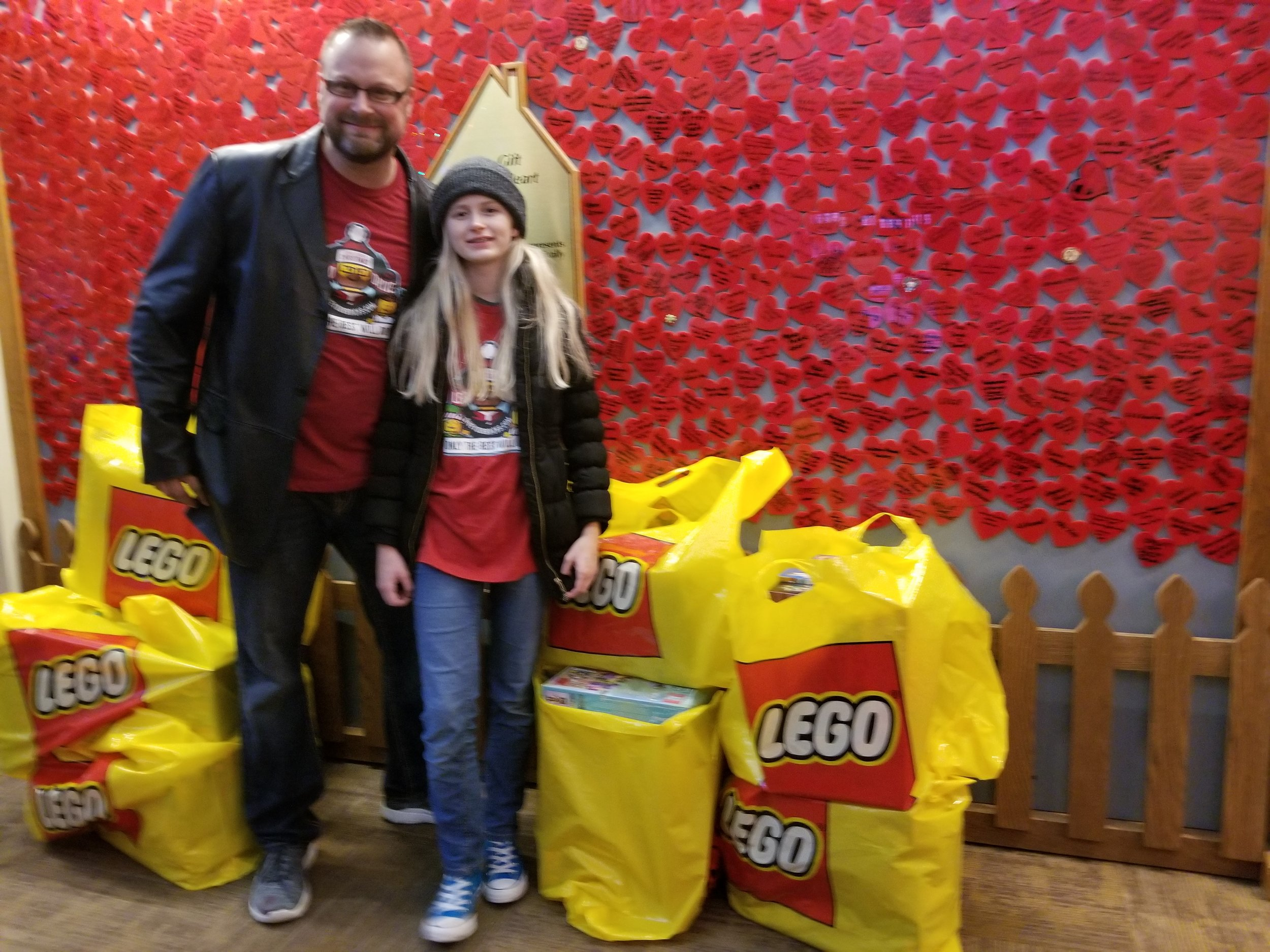 Dropping off LEGO at the Ronald McDonald House