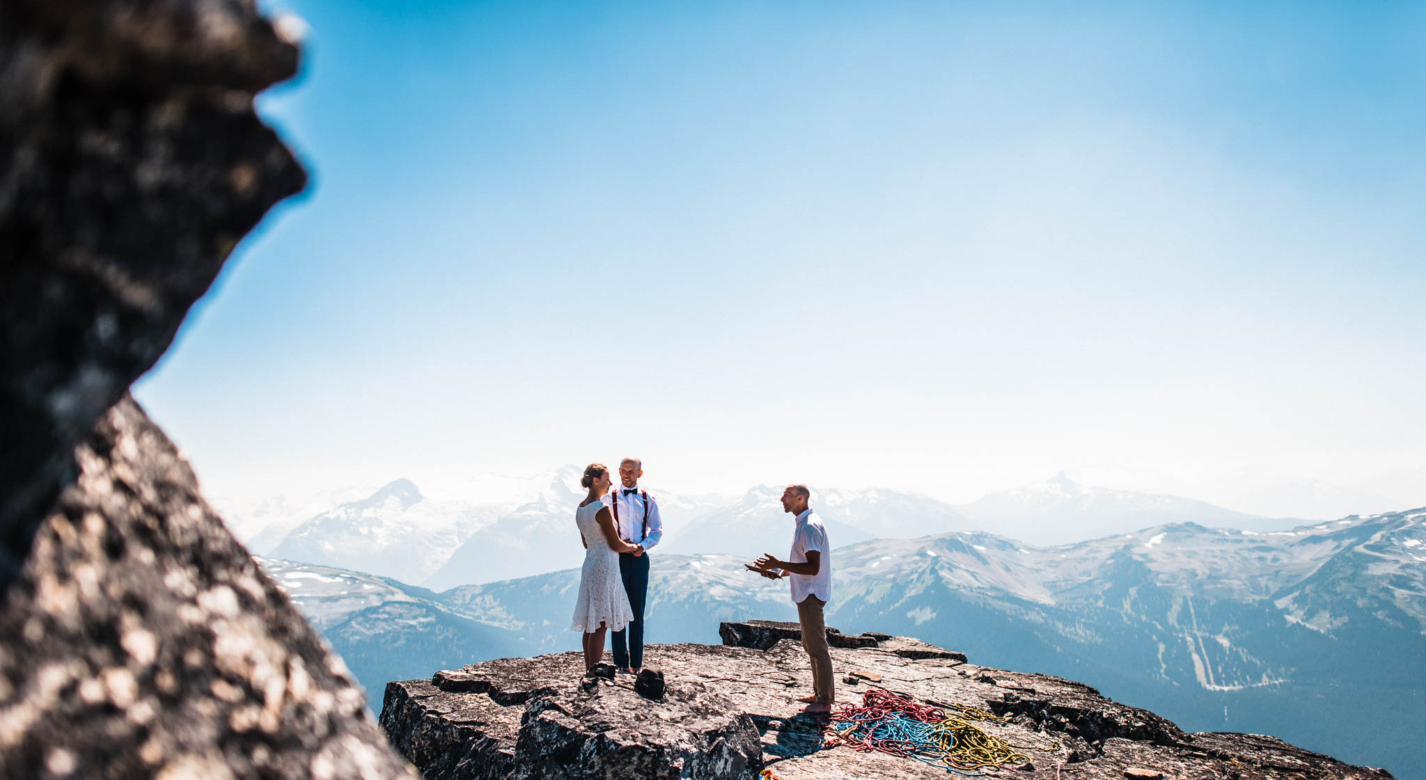 Rock Climbing Adventure Elopement - Whistler Weddings Photo by The Foxes