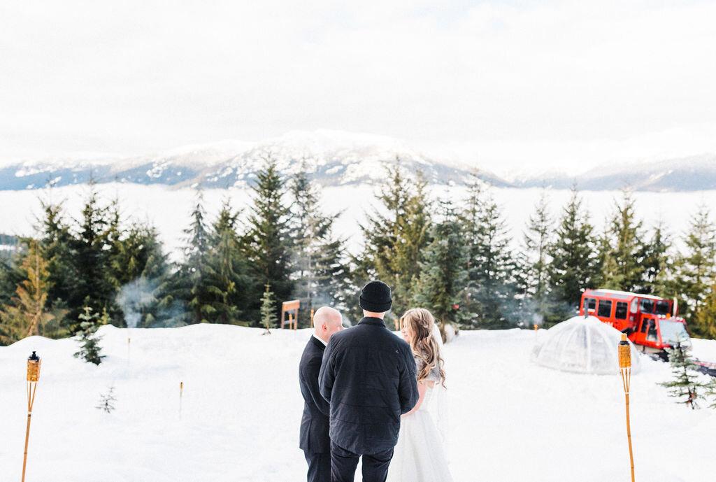 Winter elopement Whistler wedding