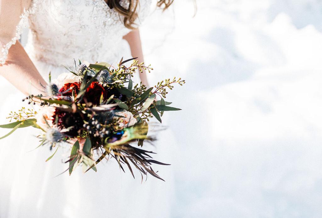 winter bride winter elopement